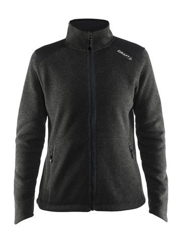 CRAFT Noble Zip Jakke Heavy Knit Fleece, dame