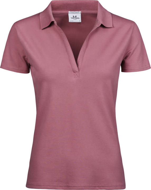 TEE JAYS Luxus v-hals Polo, dame - Rosa