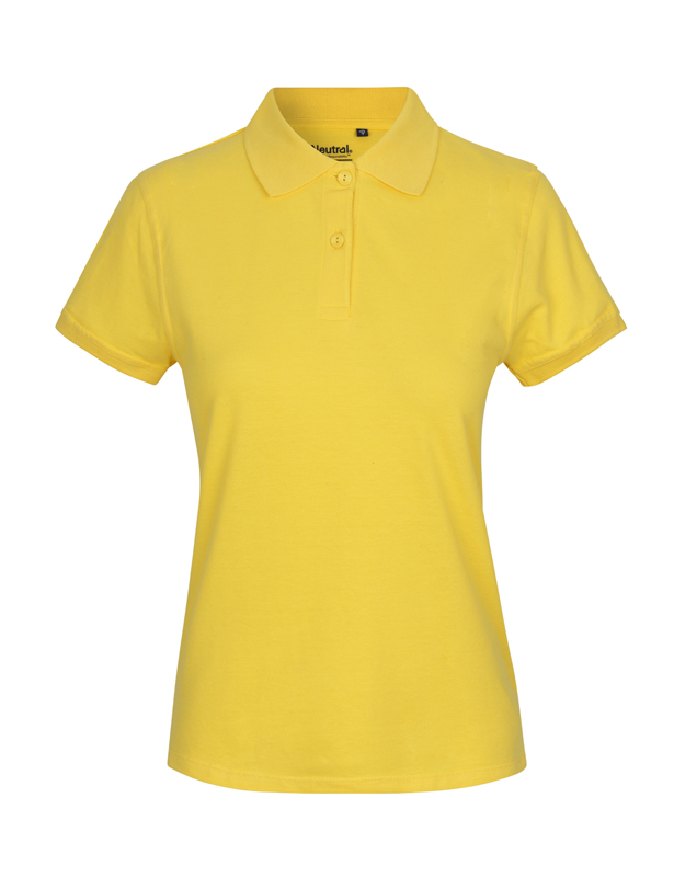NEUTRAL Økologisk Classic Polo, dame - Gul