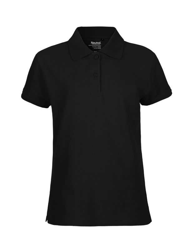 NEUTRAL Økologisk Classic Polo, dame - Sort