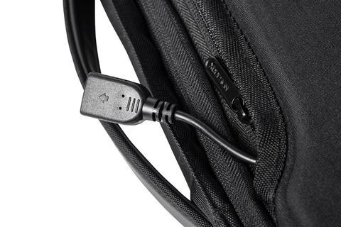 Bobby Bizz anti lommetyv rygsæk & dokument taske, sort Køb